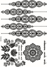 27 Style Fashion Tattoo Stickers Flash Permanent Waterproof Woman Black Henna Jewel Lace Sexy Secret Arm Body Art Decoration