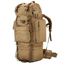 New 70L high-capacity  Military Tactical Backpack Waterproof Oxford Hiking Camping Backpacks Outdoor Wear-resisting Bag D506