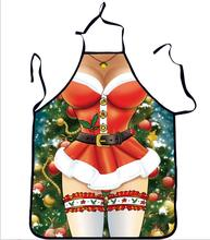 2017 New Arrival Christmas Gift Apron Personality Creative Christmas Funny Apron Cute Couple Uniform Temptation Apron Avental(China)