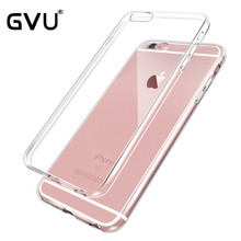 GVU Ultra Thin Soft TPU Gel Original Transparent Case For iPhone 4 4S 5 5S 6 6 Plus 7 7Plus Crystal Clear Silicon Phone Bags