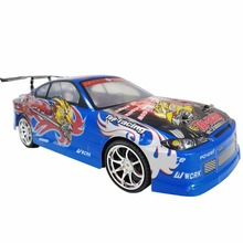 blue 1/14 Rc Car Drift scale models Remote Control car  Electric 4WD Car  Free Shipping By Singapore Post