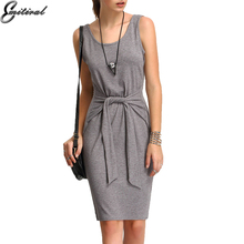 EMITIRAL 2017 summer Women Dresses Cotton Sexy Vest Sundress Silm Bodycon Dress Party Night Club wear bow tie tunic Vestidos