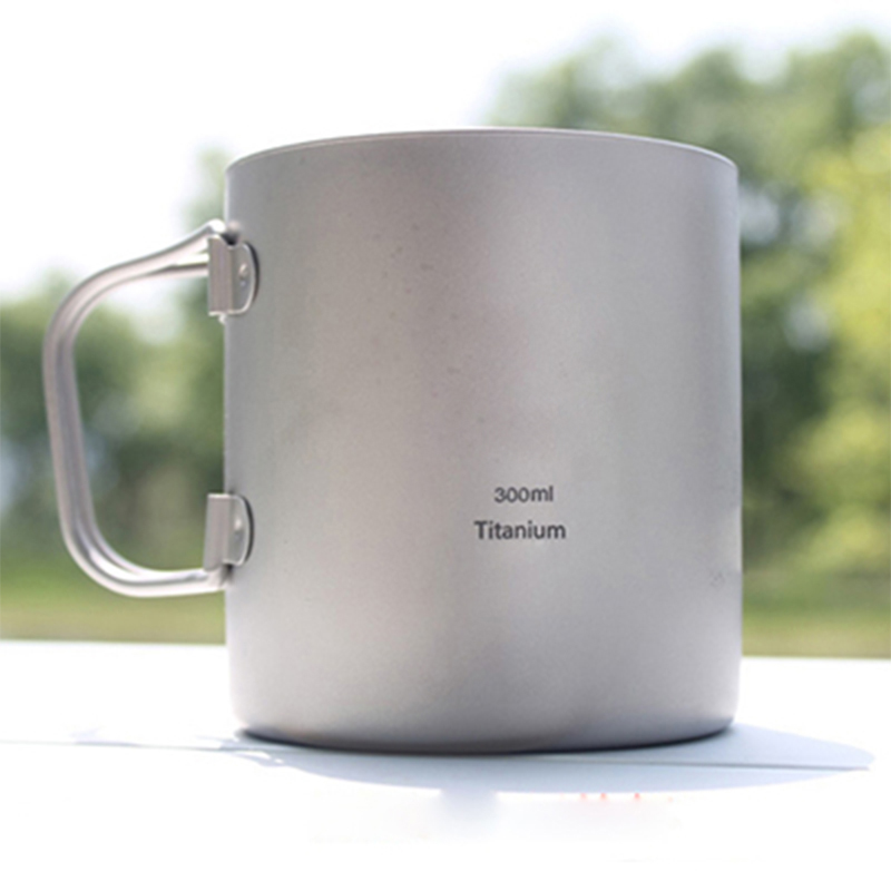Keith New Titanium Double-wall Mug 300ml Thermo Cup Copos Mug With Lid Health Non-toxic Cookware Camping Drinkware KS812<br><br>Aliexpress