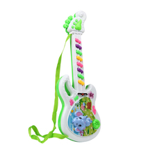 Kids Early Learning Fun Musical Educational Plastic Toy Cartoon Eephant Electric Guitar Music Instrument P25