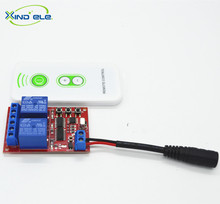XIND ELE DC 5V 2 CH Relay Receiver Wireless Remote Control Switch Light IR Frequency Learning Momentary Toggle Latched