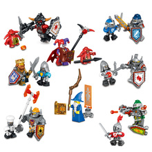 8pcs/lot NEW Nexo Knights Future Shield  Building Blocks Castle Warrior Nexus Kids Toys Gift Compatible With Lepin