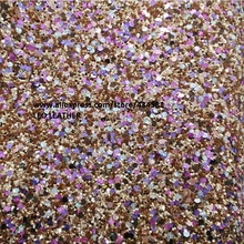 6pcs 21x29cm A4 size Chunky glitter leather mixed color Glitter P823Ab(China)