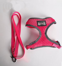 Free shipping dogs Reflective breathable mesh harness lead set doggy outdoor training harnesses leash suit pet products 1pcs