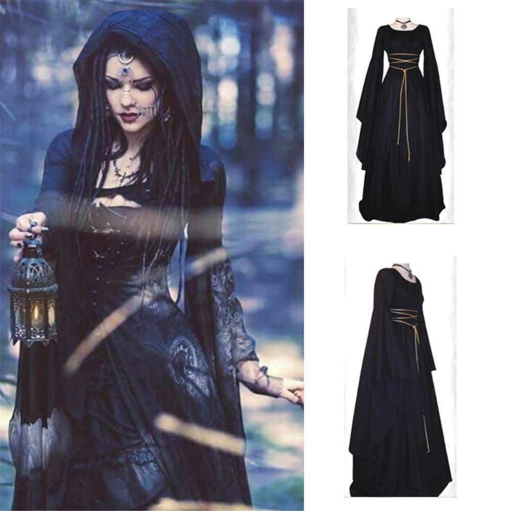 コスプレ中世ヴィンテージビクトリア不規則なドレス魔女吸血鬼