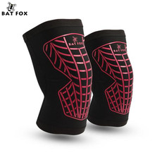 BAT FOX Support Brace Kneepad Men Knee Protector Kneepad Guard Extreme Sports Kneepads Football Knees Protective Cover Knee Pads