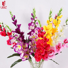 10 PCS Artificial real touch Gladiolus flowers home crafts decor vase orchid flower Wedding decoration silk flores artificielle