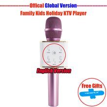 Wireless Karaoke Microphone 3W 2600mah Bluetooth Microphone With Pop Filter Audio Mixer Professional Studio Microphone Speaker
