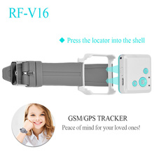 2017 New RF-V16 Mini GSM GPRS GPS Tracker SOS Communicator for Kids Child Elderly Personal lifetime web APP Tracking(China)