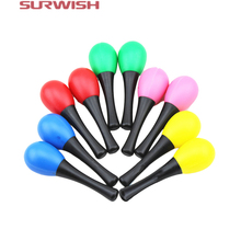 Surwish 2Pcs Plastic Sand Hammer Maraca Rattle Shaker Kids Musical Instruments Baby Sound Music Toy - Random Color(China)