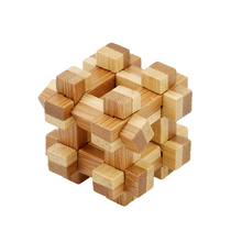 2017 IQ Brain Teaser Kong Ming Lock 3D Wooden Interlocking Burr Puzzles Game Toy For Adults Kids