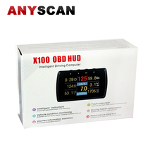 AUTOOL X100 OBD HUD Car Computer Car OBD Trip Computer Fuel Meter OBD HUD Color Intelligent Driving computer auto supplies