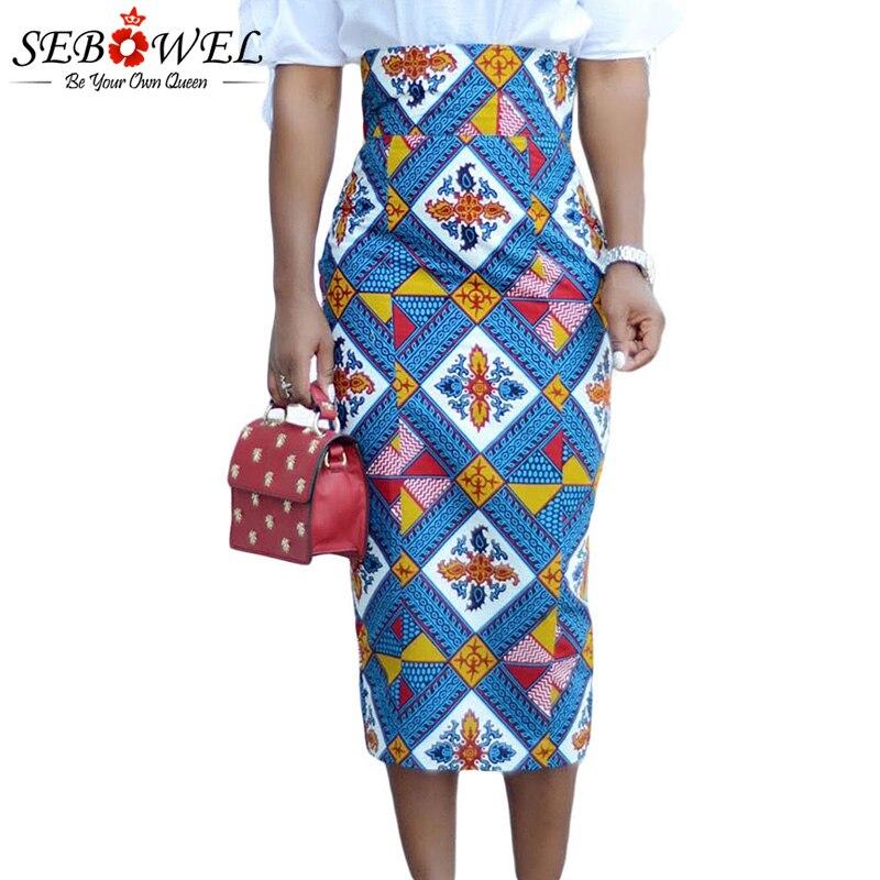 Bluish-African-Print-High-Waist-Bodycon-Pencil-Skirt-LC65104-5-1