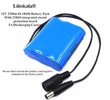 Liitokala 12V 2200mAh 18650 Battery Pack 2.2Ah Rechargeable Batteries For CCTV/Camera/Portable Charger/Light/LED Hot Sale