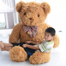 Fancytrader Top-quality 63'' / 160cm JUMBO Plush Stuffed Cute Brown Teddy Bear Toy, Great Gift, Free Shipping FT50433