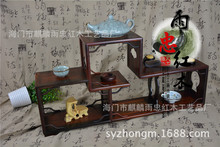 Redwood crafts Rosewood Ming-style low shelf Shelf ornaments frame structure tenon(China)