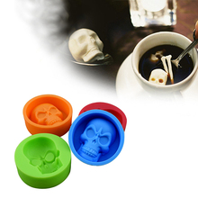 3D Skull Head Silicone Mold Home Party Fondant Cake Chocolate Silicone Mold Cake Tools YL889985