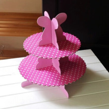 Free shipping pink polka dot decoration cupcake stand cake dessert stands birthday wedding party baby shower supply favors