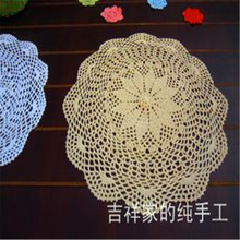 Free shipping 40cm 5pic/lotround cotton lace doilies as innovative item for home decoration placemat heat insulation pad coaster