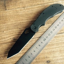 DX-Grady Fung Manufacture 100% Tactical  Scout Tanto Folding Combat Knife AUS-8 Black Blade Handle