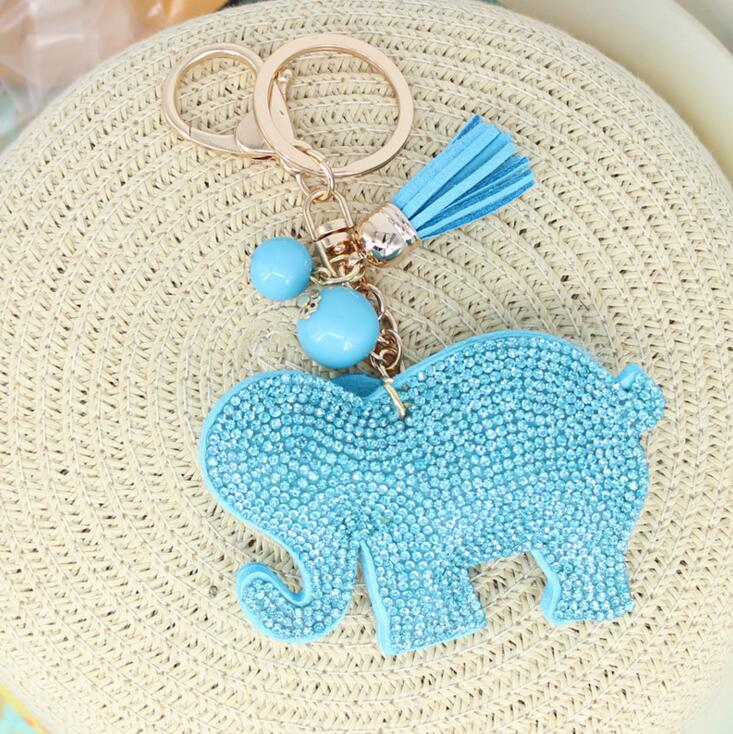 2016 Fashion Jewelry Cute Women Key Chain key Cover Rhinestone Inlaid Leather tassel peach heart Key Cap Gift 10Colors wholesale