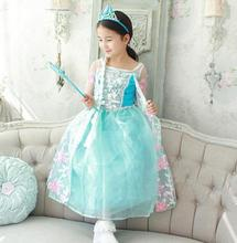 2017 summer dance party show girl costumes, cartoon Cinderella dress Classic elegant princess brand clothing