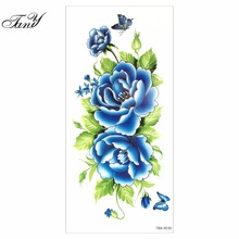 2017 New Waterproof temporary flower tattoos big temporary tattoos fake back Chinese peony pattern(China)
