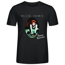 Mylene Farmer Dance Remixes Men's O-Neck Cotton T-Shirt