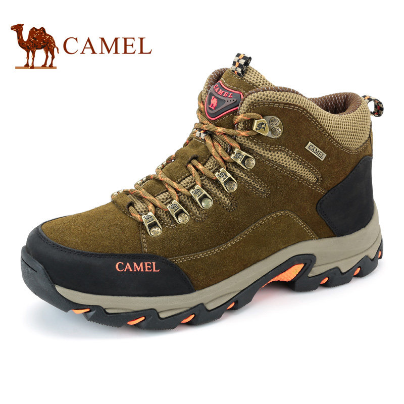 Camel Outdoor Hiking Shoes Suede Cowhide Wear-resistant Non-slip High-help Climbing Shoes <br><br>Aliexpress
