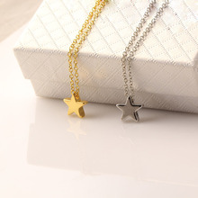 Fashion Optional Pentagram Girl Short Chain Choker Star Necklaces & Pendants Jewelry Wholesale for Women NR538