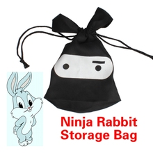 All Purpose Multifunction Travel Lunch Ninja Rabbit Pouch Laundry Drawstring Storage Bag PTSP
