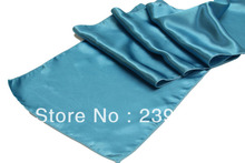 50pcs Aqua  Satin Table Runner for Table&Weddings Events,,Satin Table Runner for Weddings Events &Banquet &Party Decoration
