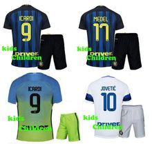 High quality kids Maglie inter 2016 2017 children blue white green shirts set free shipping