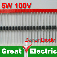 100PC/Lot DIP Zener Diode 100V 5W Free Shipping #WY135(China)