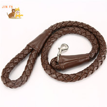 Top leather big dog belt pet traction rop(China)