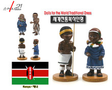 Poliresin Art & Crafts Kenya 2pcs of Traditional Costume Dolls New Arrival Home Office Decoration Business Gift(China)
