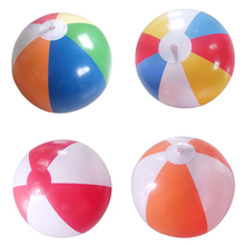 Hot 12' Inflatable Swimming/Pool Party Beach Ball-6 Pieces of Colors Mixed Multicolor Toys Ball Game Kids Toy Gift For Children(China)