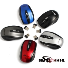 Brand New Wholesale Price 2.4GHz High Qulity Wireless RF Optical Mouse/Mice+USB 2.0 Receiver For PC Laptop(China)