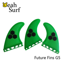 SUP Board Surfing Future G5 Fin Fibreglass Honeycomb Fin Medium Fin Surfboard Fin Quilhas Free Shipping 4 Colors Available