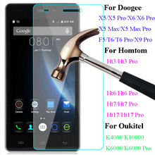 Buy GerTong Tempered Glass Doogee X5 Max Pro X5 X6 T6 Oukitel K6000 10000 Homtom HT17 HT3 HT6 Screen Protector Film for $1.38 in AliExpress store