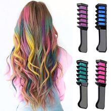 New Design Crayons for Hair Color Chalk for the Hair Color Temporary Blue Hair Dye With Comb
