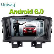 uniway 2 din android 6.0 car dvd  for chevrolet cruze 2011 2013 car radio multimedia player with steering wheel gps navigation