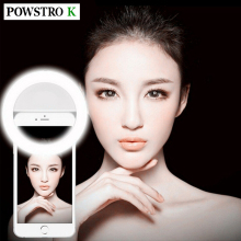 Selfie LED Light Up Flash Light Photography Luminous Ring Light 36pcs LED 3 Brightness Levels Clip on All Mobile Phone