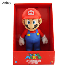 "Free Shipping Super Mario Bros Mario PVC Action Figure Collection Toy Doll 9"" 23cm New in Box Enime SM009(China)"