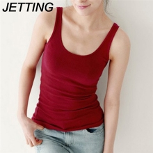 JETTING Women Sexy Soft Tank Tops Solid Sleeveless U Croptops Hot Camisole Vest Top Cropped For Ladies 8 Colors