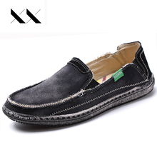 XX Brand Big Size 39-45 Men Casual Shoes Jeans Canvas Breathable Slip-on Classic Lightweight Comfortable Fashion Men Flat Loafer